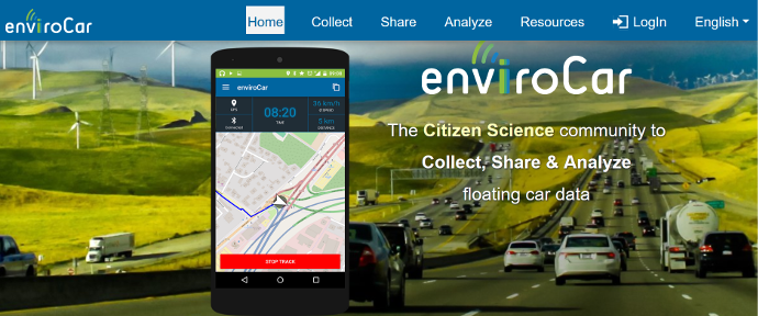 enviroCar website – new and improved!