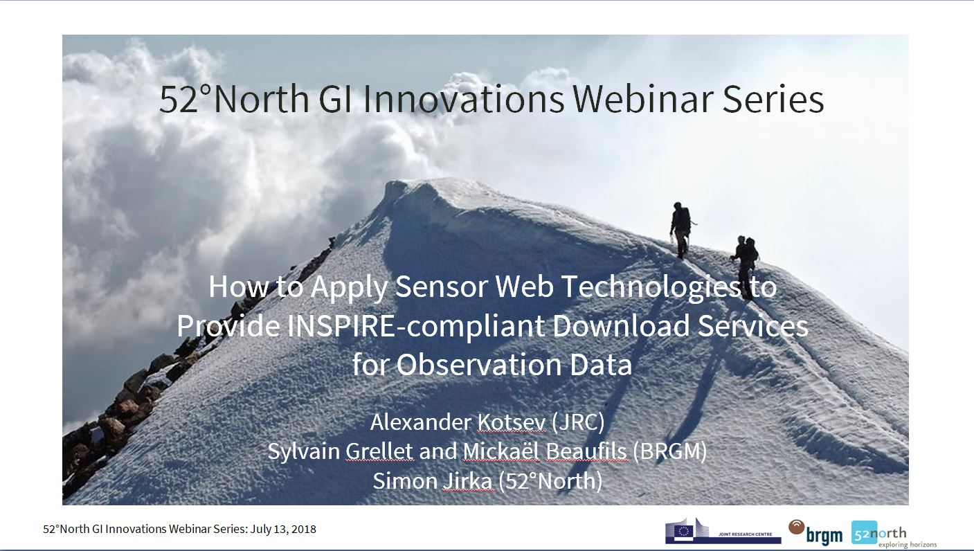 52°North Webinar: Providing INSPIRE-compliant Download Services for Observation Data