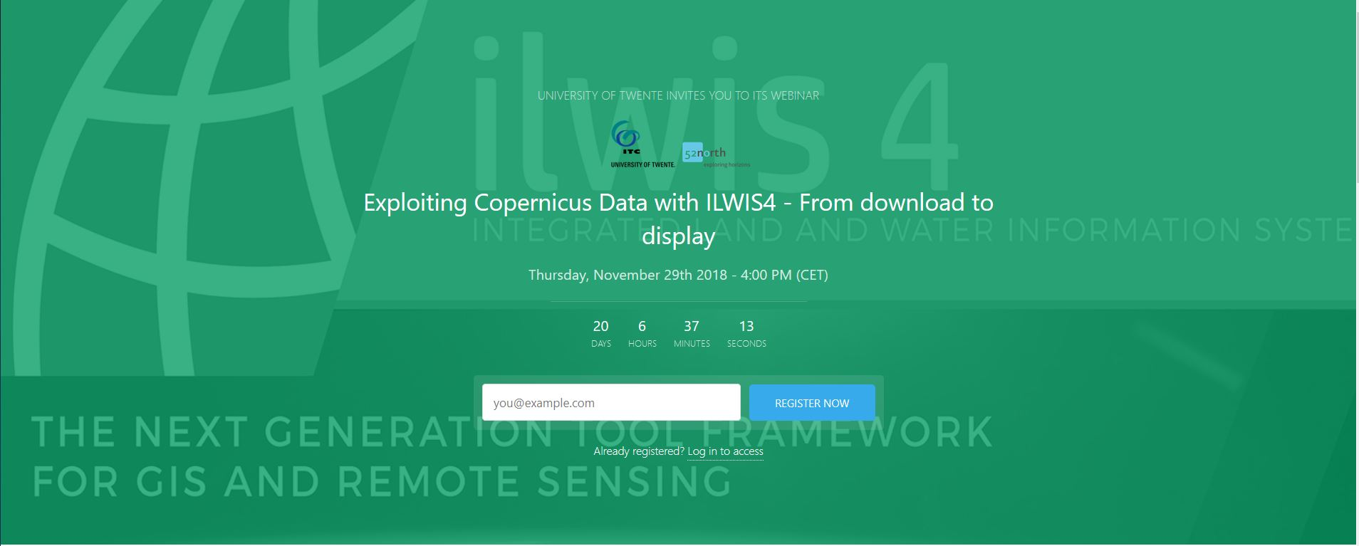 Exploiting Copernicus Data with ILWIS4