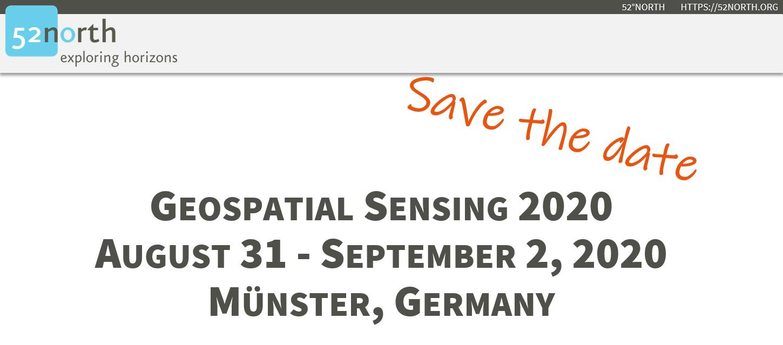 Geospatial Sensing 2020 – Save the date