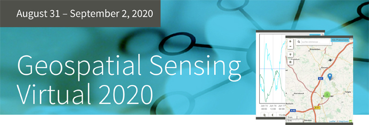 Geospatial Sensing | Virtual 2020 program is online!