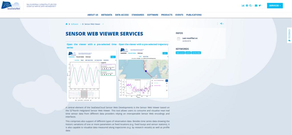 Sensor Web Viewer Services